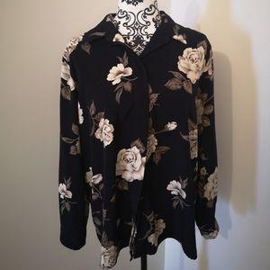 Dark floral blouse